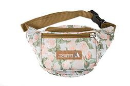 Everest Signature Pattern Waist Pack, Vintage Floral, One Si