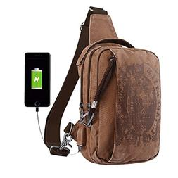 Sling Backpack Anti-Theft Canvas Bag One Strap Crossbody Sho